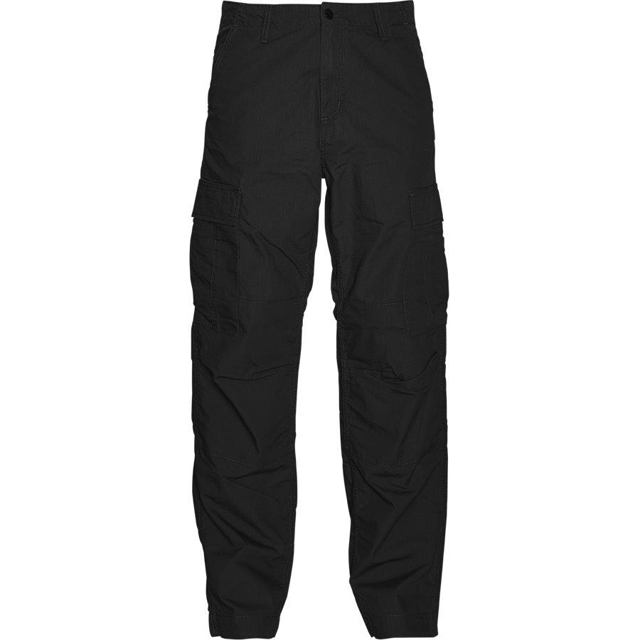 REGULAR CARGO PANT-I015875 - Cargo Pants - Bukser - Regular - BLACK RINSED - 1